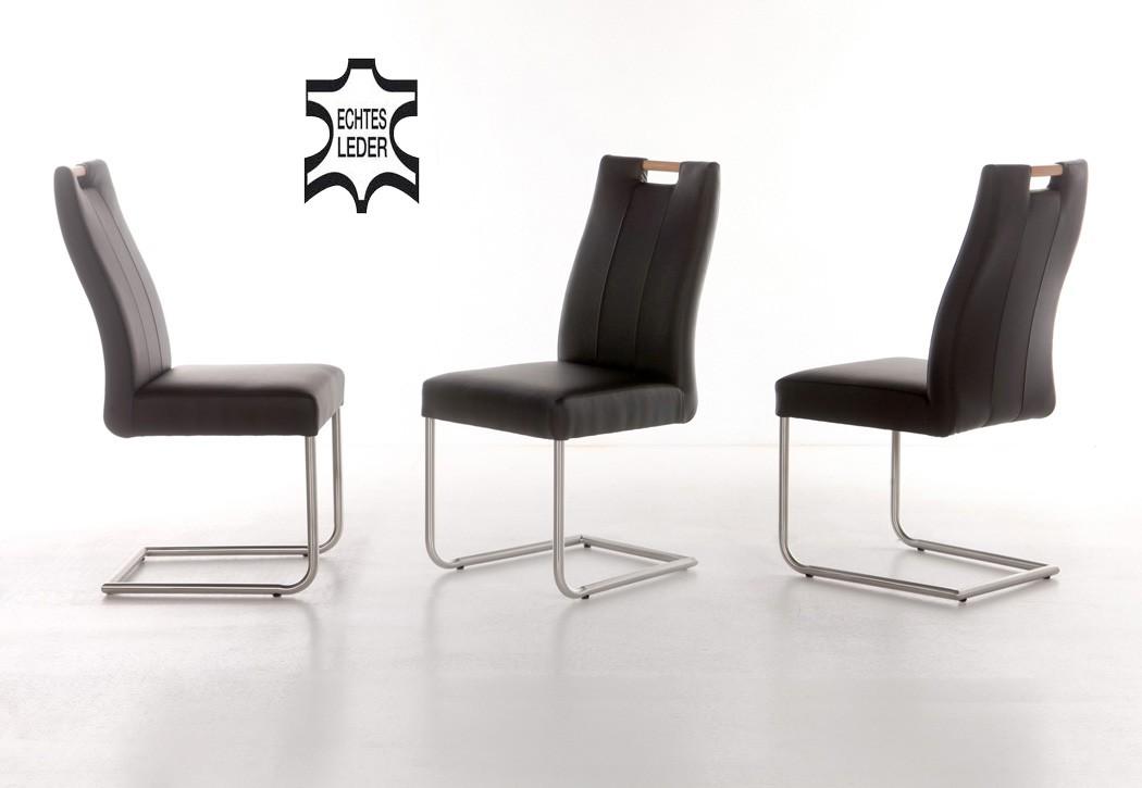 schwingstuhl joana echtleder polsterstuhl varianten. Black Bedroom Furniture Sets. Home Design Ideas