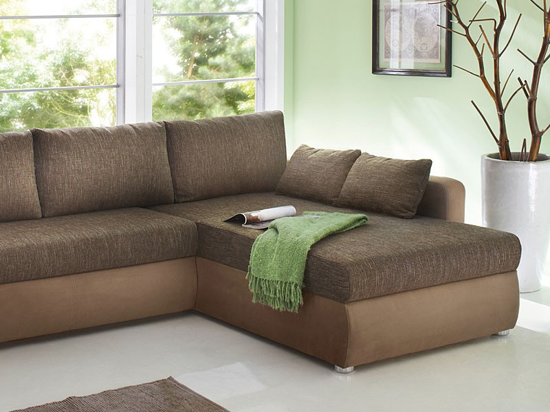 Ecksofa couch tifon 272x200cm braun lava bettfunktion for Ecksofa 300 x 200