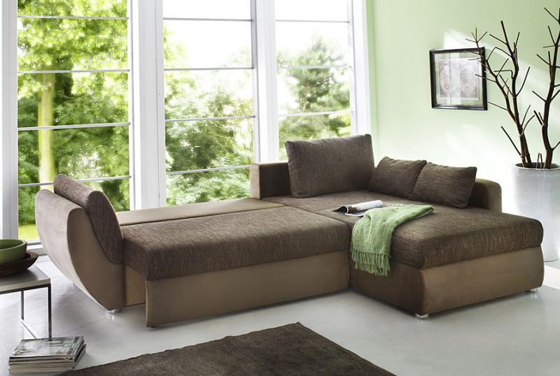 Ecksofa couch tifon 272x200cm braun lava bettfunktion polsterecke schlafsofa ebay - Designer ecksofa lava vertjet ...