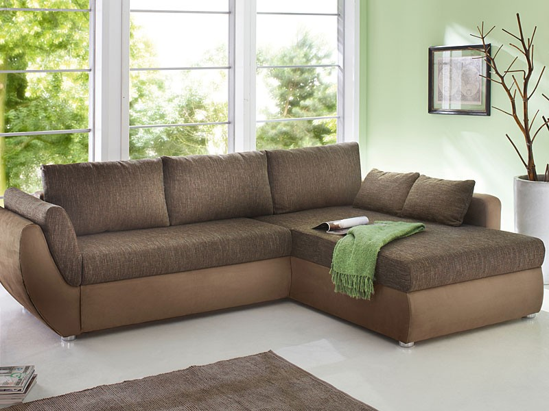 Ecksofa couch tifon 272x200cm braun lava bettfunktion for Ecksofa couch