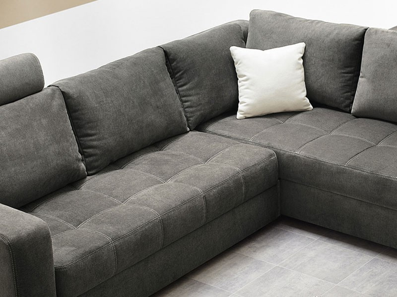 Polsterecke Aurum Grau 267x221cm Bettfunktion Sofa Couch