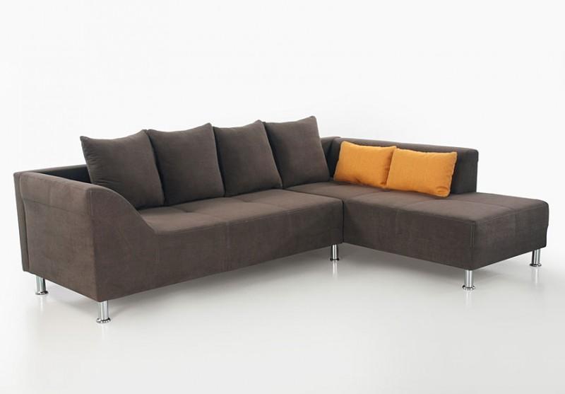 polsterecke ava 266x194cm braun mikrofaser ecksofa. Black Bedroom Furniture Sets. Home Design Ideas