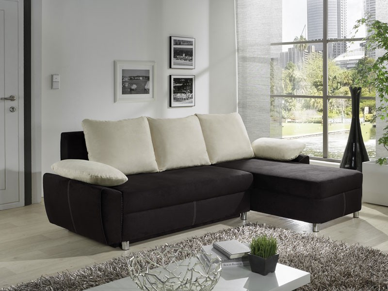 ecksofa nick 239x152cm natur schwarz schlafsofa eckcouch. Black Bedroom Furniture Sets. Home Design Ideas