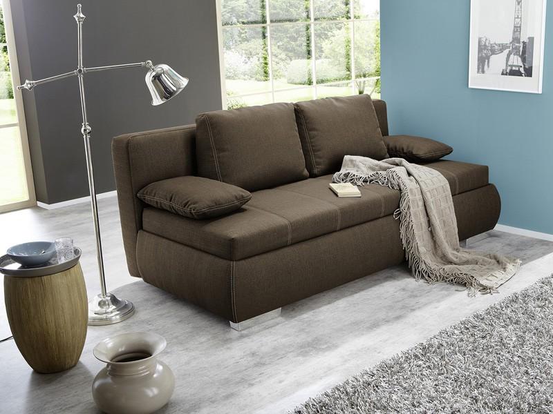 dauerschl fer schlafsofa merlin 210x112cm braun sofa