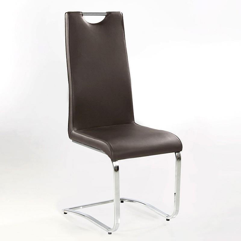 freischwinger stuhl eugenia chocolate chrom schwingstuhl schwingsessel wohnbereiche esszimmer. Black Bedroom Furniture Sets. Home Design Ideas