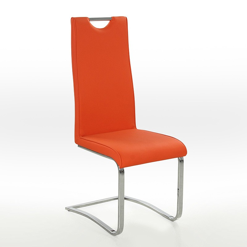 Freischwinger stuhl orange bestseller shop f r m bel und for Design stuhl orange