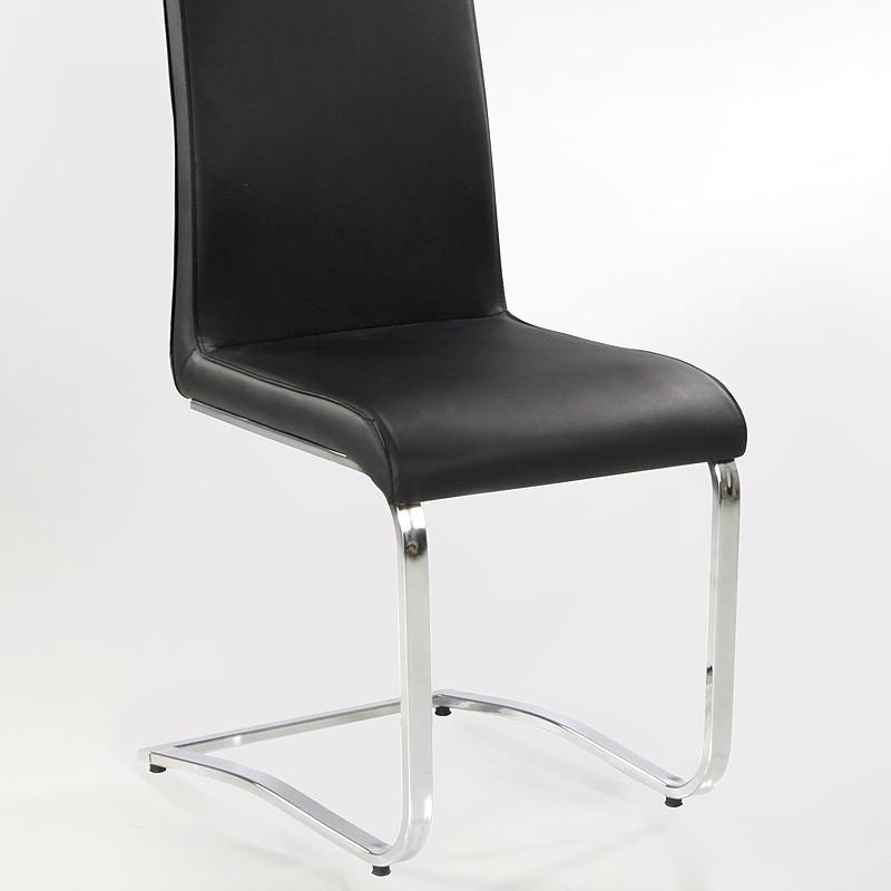 Freischwinger stuhl eugenia schwarz chrom schwingstuhl for Stuhl schwarz esszimmer