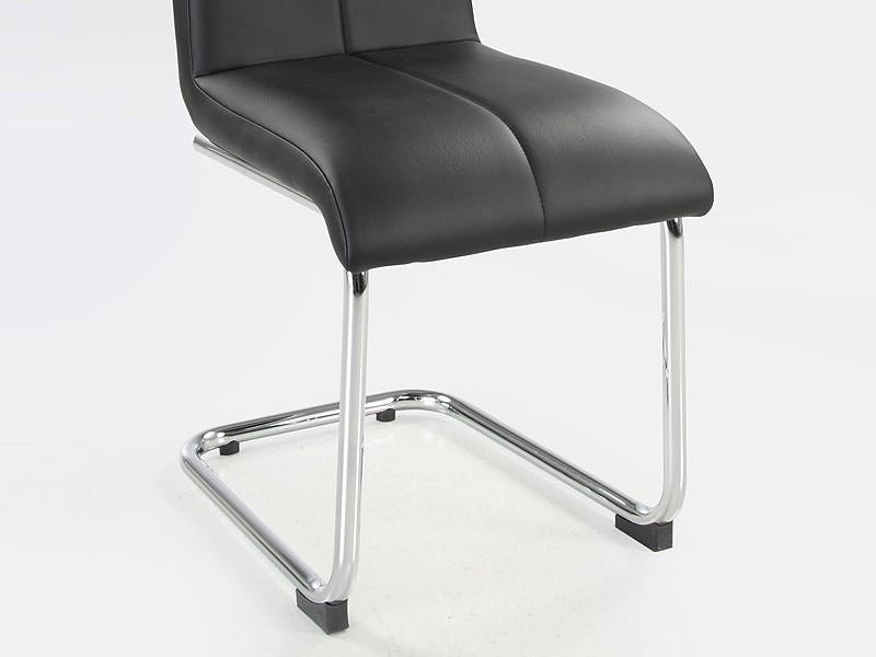 schwingstuhl lacy schwarz chrom freischwinger stuhl. Black Bedroom Furniture Sets. Home Design Ideas