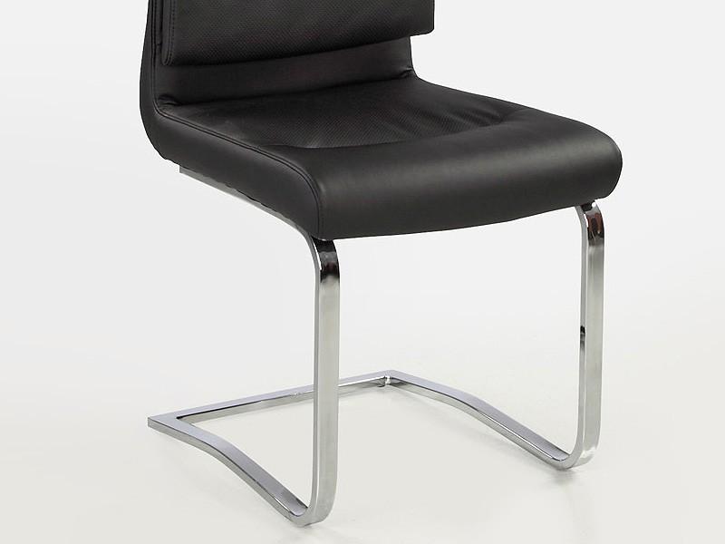 schwingstuhl maegan schwarz chrom freischwinger stuhl esszimmerstuhl wohnbereiche esszimmer. Black Bedroom Furniture Sets. Home Design Ideas