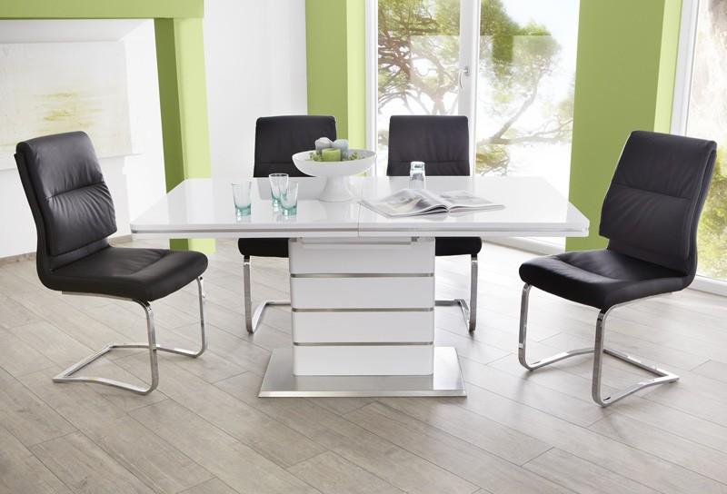 Essgruppe tischgruppe tisch alber ausziehbar 4x schwingstuhl maegan wohnbereiche esszimmer - Essgruppe skandinavisch ...