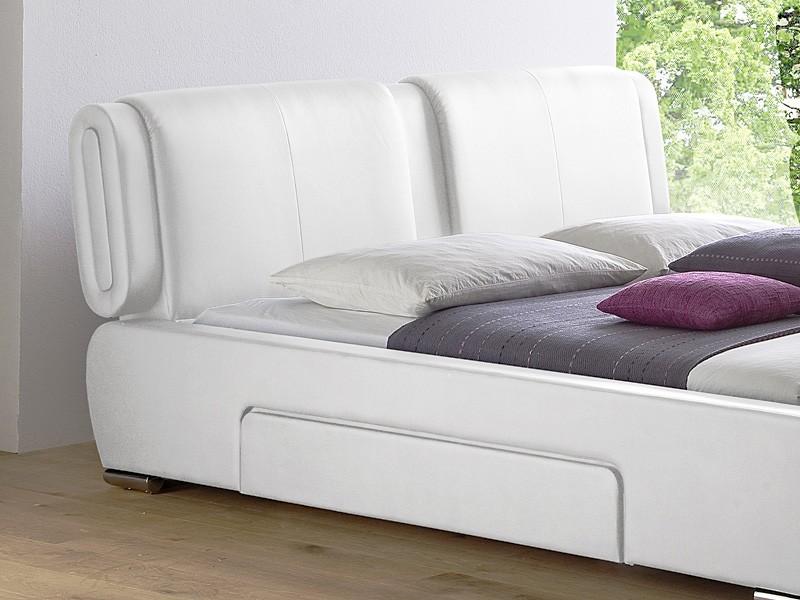 polsterbett cesano bett 180x200cm weiss lattenrost. Black Bedroom Furniture Sets. Home Design Ideas