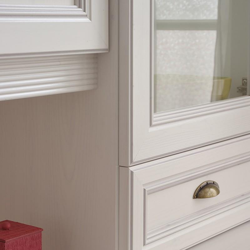 esszimmerschrank wei 182x198x51cm kiefer wei nb schrank. Black Bedroom Furniture Sets. Home Design Ideas