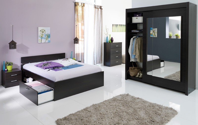 jugendzimmer komplett kaffee schlafzimmer 4 teilig schrank bett nako inaco 211 ebay. Black Bedroom Furniture Sets. Home Design Ideas