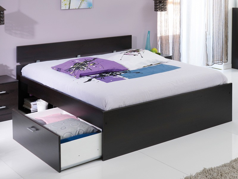 bett mit bettkasten 90x200 betten kaufen bei mbelix. Black Bedroom Furniture Sets. Home Design Ideas