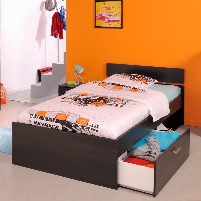 kinderbett kaffee nachttisch bettkasten bett 90x200cm stauraumbett inaco 255 ebay. Black Bedroom Furniture Sets. Home Design Ideas