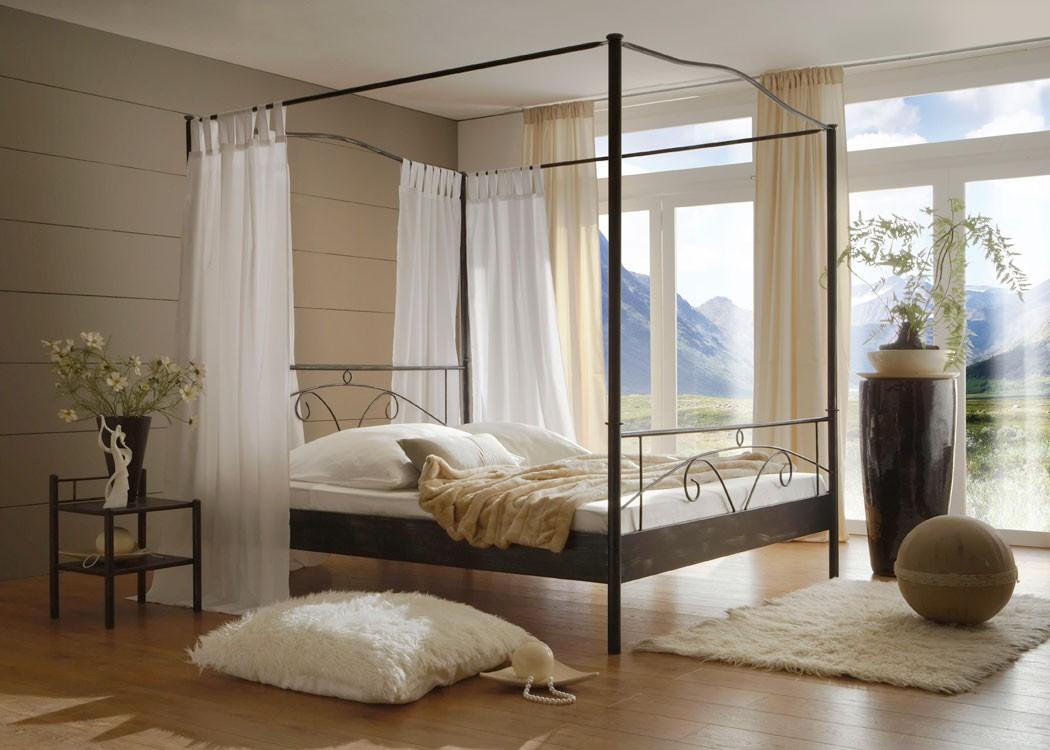 Gem tliche innenarchitektur schlafzimmer gestalten metallbett haus renovierung mit - Romantisches schlafzimmer mit himmelbett gestalten ...