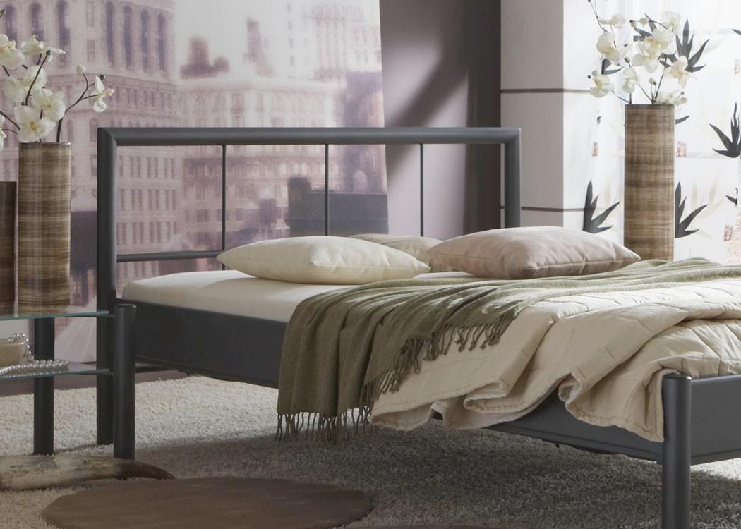 Hochwertiges Metallbett Bente Komplett, Varianten, Bett + Lattenrost +  Matratze, Jugendbett Singelbett Ehebett