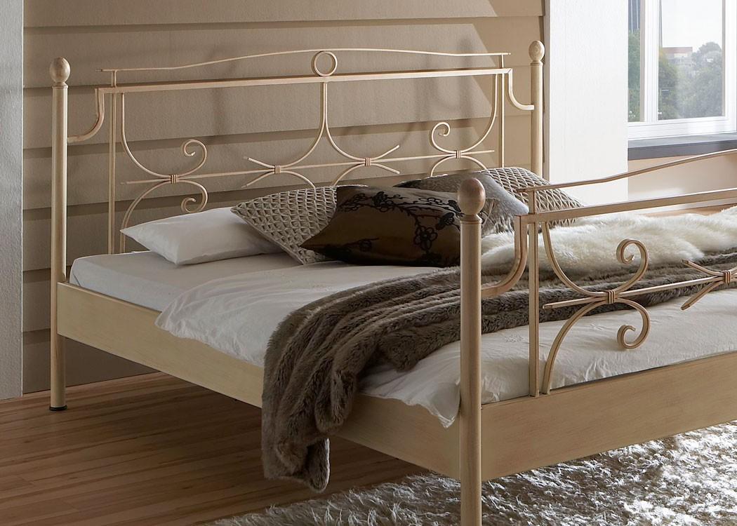 Hochwertiges Metallbett Mira Komplett, Varianten, Bett + Lattenrost +  Matratze, Jugendbett Singelbett Ehebett