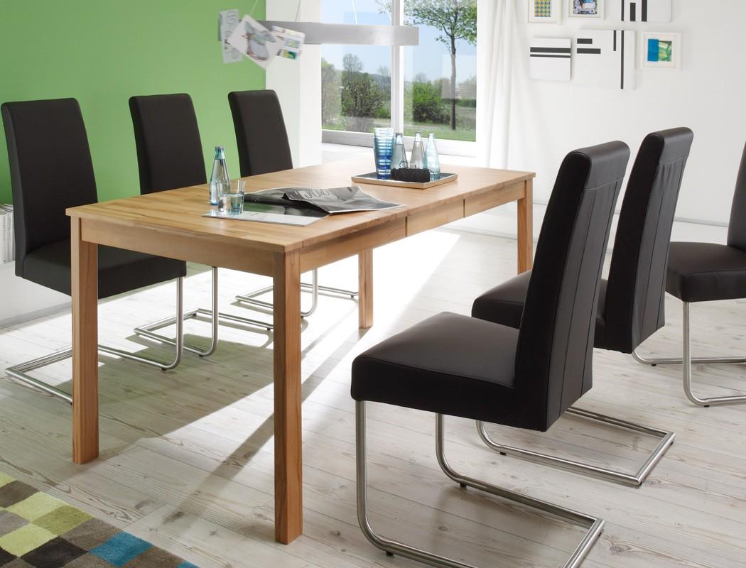 esstisch emilian 125x80cm tisch fest oder ausziehbar massivholztisch wohnbereiche esszimmer. Black Bedroom Furniture Sets. Home Design Ideas
