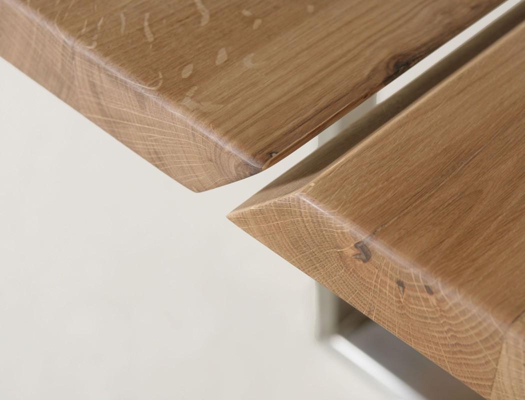 hochwertiger esstisch baumtisch massivholz tisch kufentisch montana