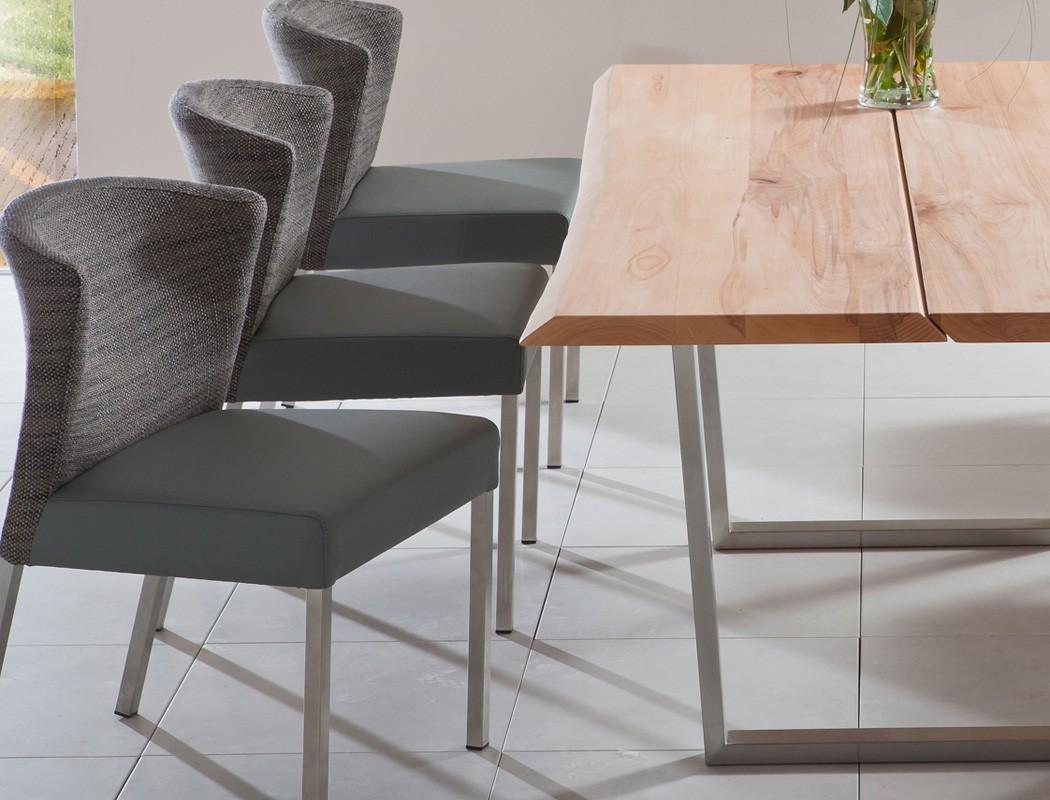 Hochwertiger esstisch baumtisch massivholz tisch kufentisch montana gestell b ebay - Baumtisch esszimmer ...
