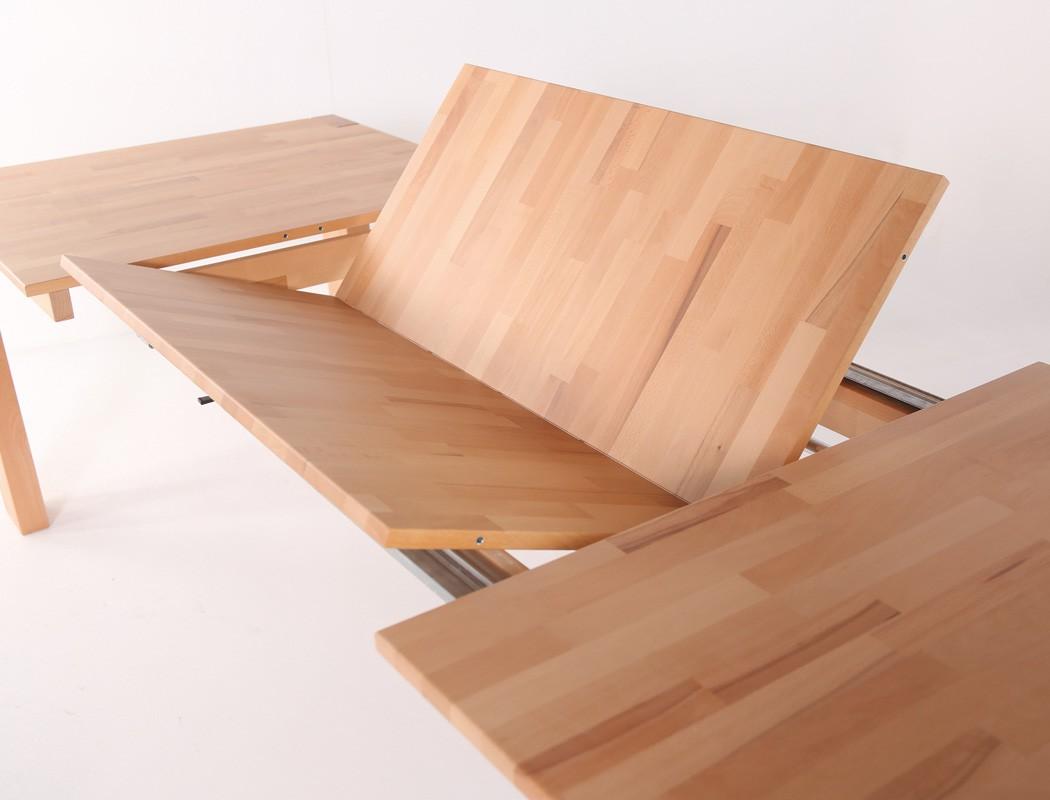 tischgruppe kernbuche ausziehtisch und 6 freischwinger. Black Bedroom Furniture Sets. Home Design Ideas