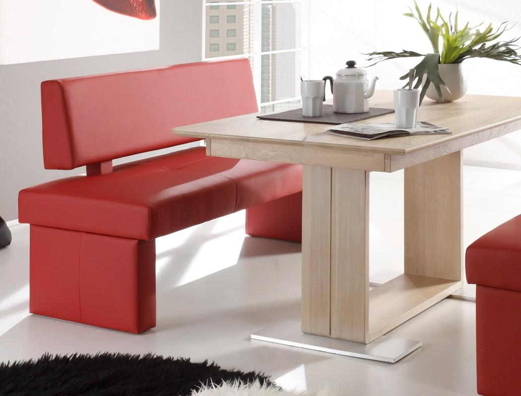 sitzgruppe eiche sonoma tisch bennet 130x90cm sitzbank. Black Bedroom Furniture Sets. Home Design Ideas
