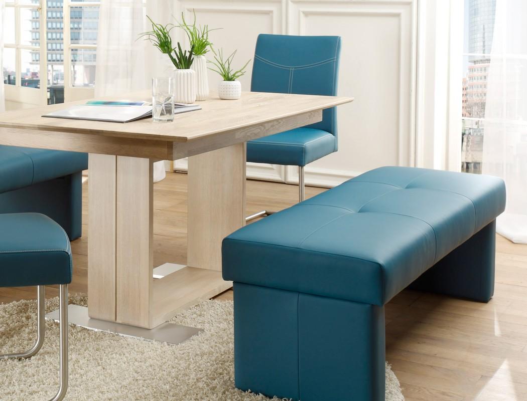 Sitzgruppe Eiche sonoma, Tisch 130x90 + Sitzbank 130cm ...