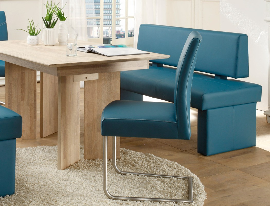 sitzgruppe eiche sonoma tisch 150x90 sitzbank 150cm schwinger petrol joel ebay. Black Bedroom Furniture Sets. Home Design Ideas
