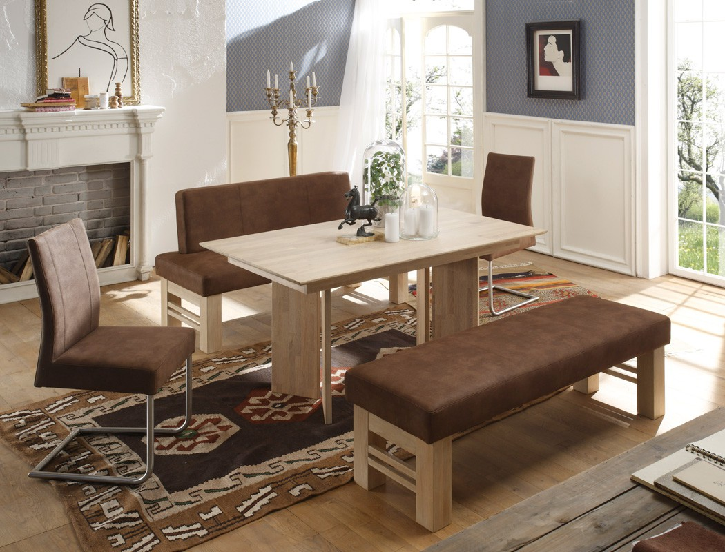 sitzgruppe eiche sonoma tisch b nke schwinger joel flavio c lana schoko. Black Bedroom Furniture Sets. Home Design Ideas