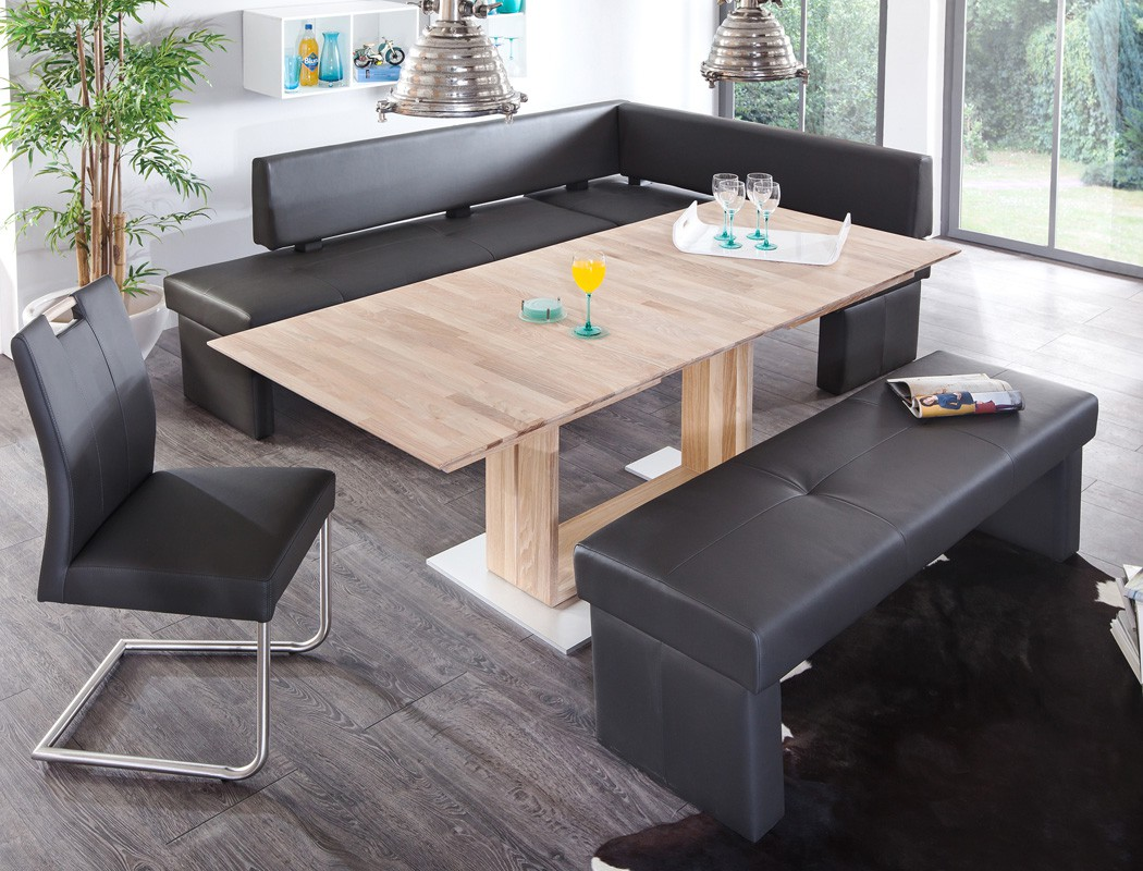 eckbankgruppe eiche sonoma ausziehtisch schwinger dorian bennet louisa fango. Black Bedroom Furniture Sets. Home Design Ideas