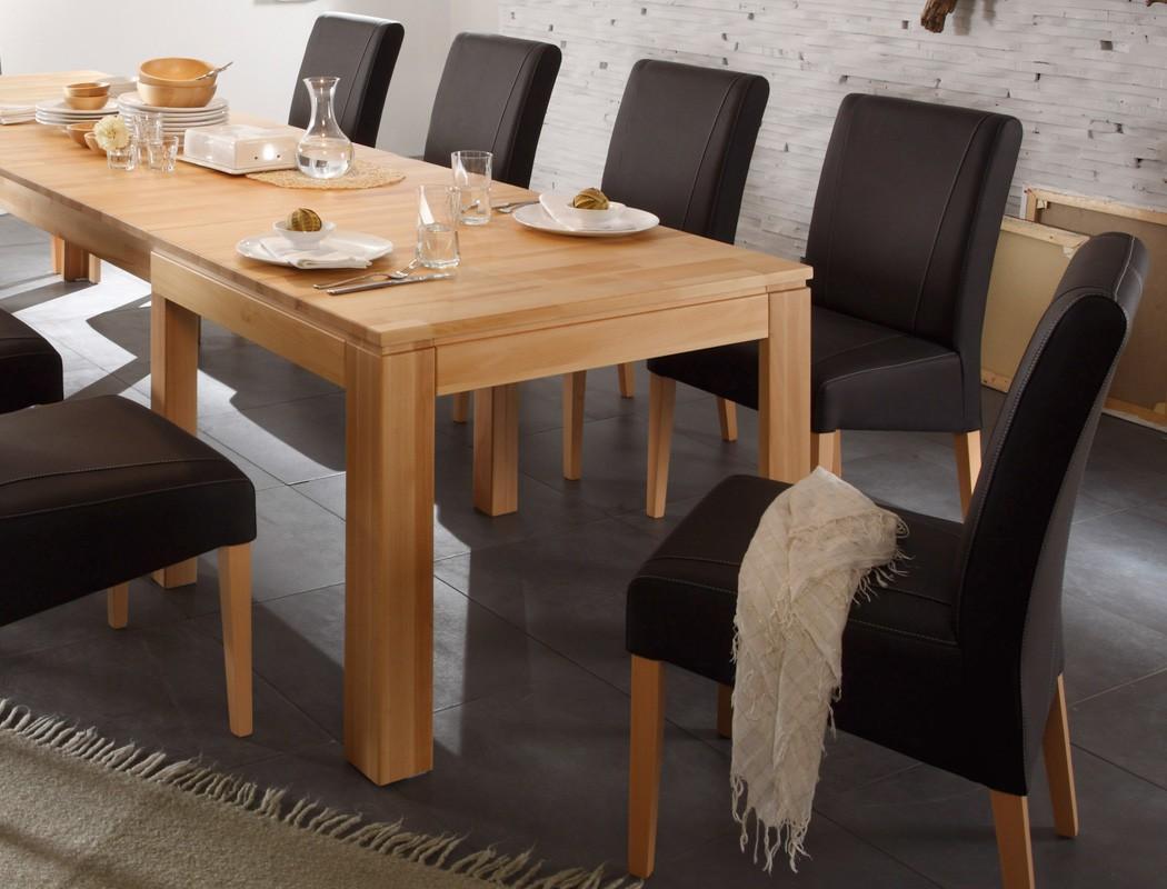 Zebra Gartenmobel Set : Tischgruppe Kernbuche Tisch ausziehbar Allround + 10 Stühle Lenz