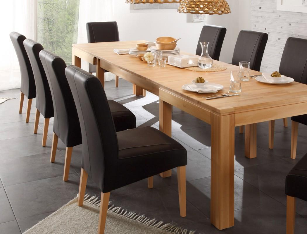tischgruppe kernbuche tisch ausziehbar allround + 10 stühle lenz, Esstisch ideennn