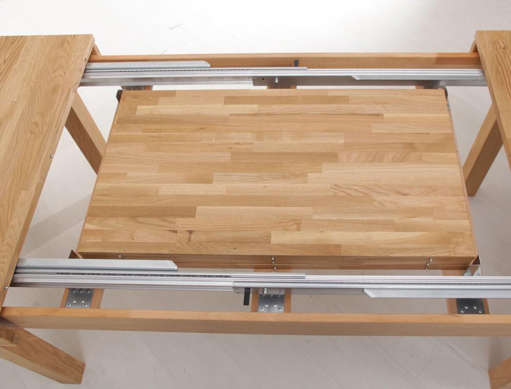 tischgruppe kernbuche tisch ausziehbar allround 10 st hle lenz braun wohnbereiche esszimmer. Black Bedroom Furniture Sets. Home Design Ideas