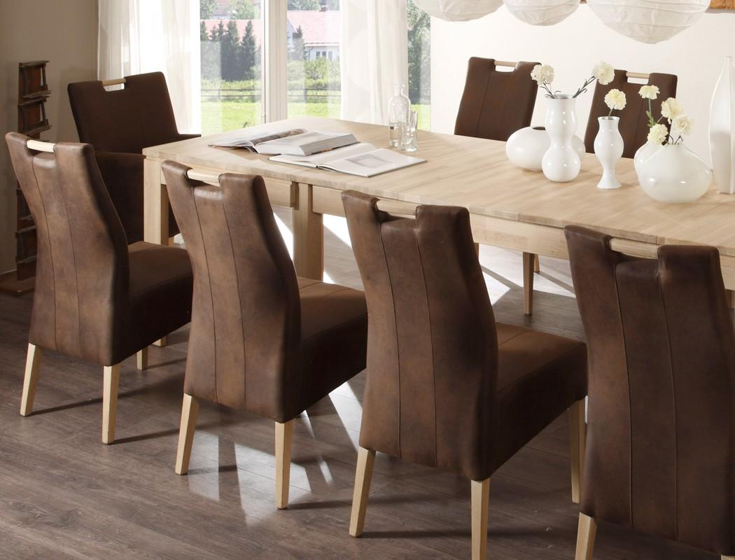 Perfekt Essgruppe Eiche Sonoma Tisch Allround + 8 Stühle Vigga + 2 Sessel Barak U2013  Bild 4