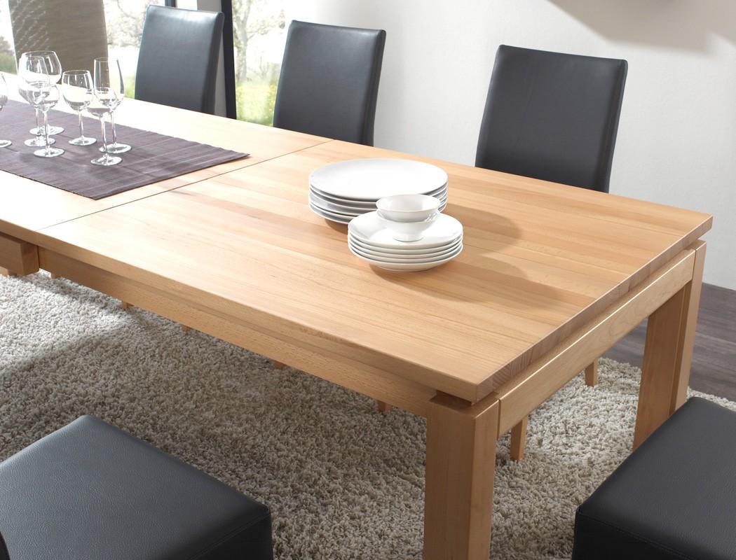 Esstisch Verona Eiche ~ Tischgruppe Eiche, Tisch Verona XL 160(260)x90 + 6 Stühle Lenz schwarz Esszim