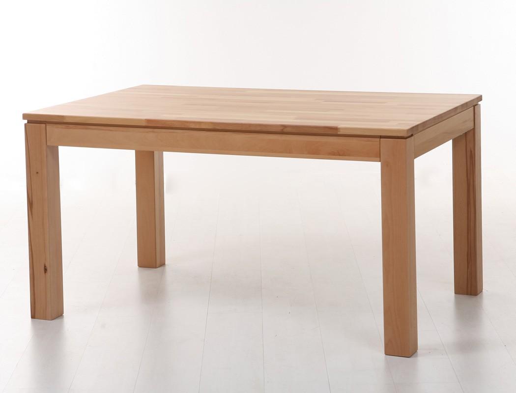 tischgruppe kernbuche tisch tobiah 140 220 x90 6 st hle robin beige essgruppe ebay. Black Bedroom Furniture Sets. Home Design Ideas
