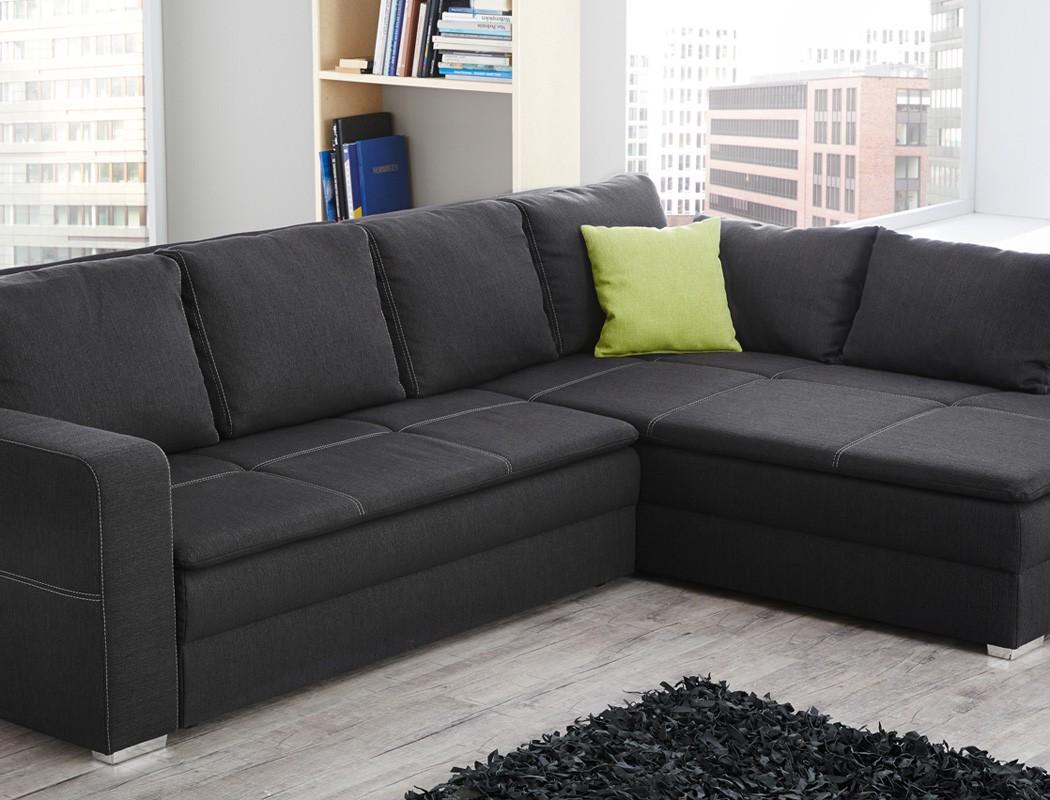 funktionssofa donell 290x211cm dunkelgrau dauerschl fer. Black Bedroom Furniture Sets. Home Design Ideas