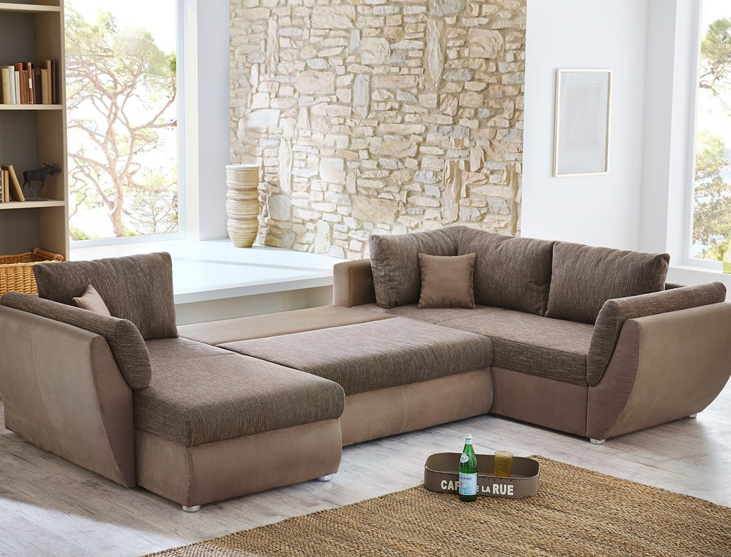 Wohnlandschaft sofa 326x231x166cm couch mikrofaser lava for Couch u form klein