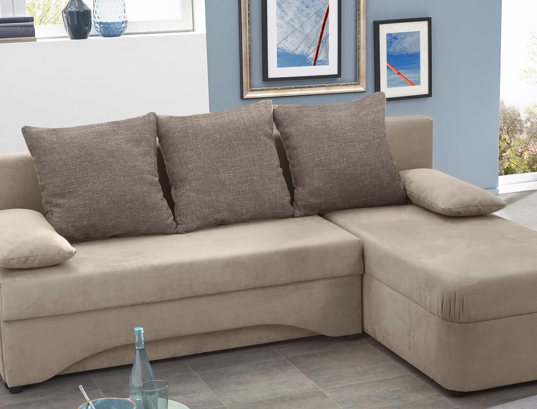fein wohnzimmer wandgestaltung braun - ecksofa pollux 191x142cm schlamm grau braun schlafsofa couch sofa wohnbereiche wohnzimmer sofa