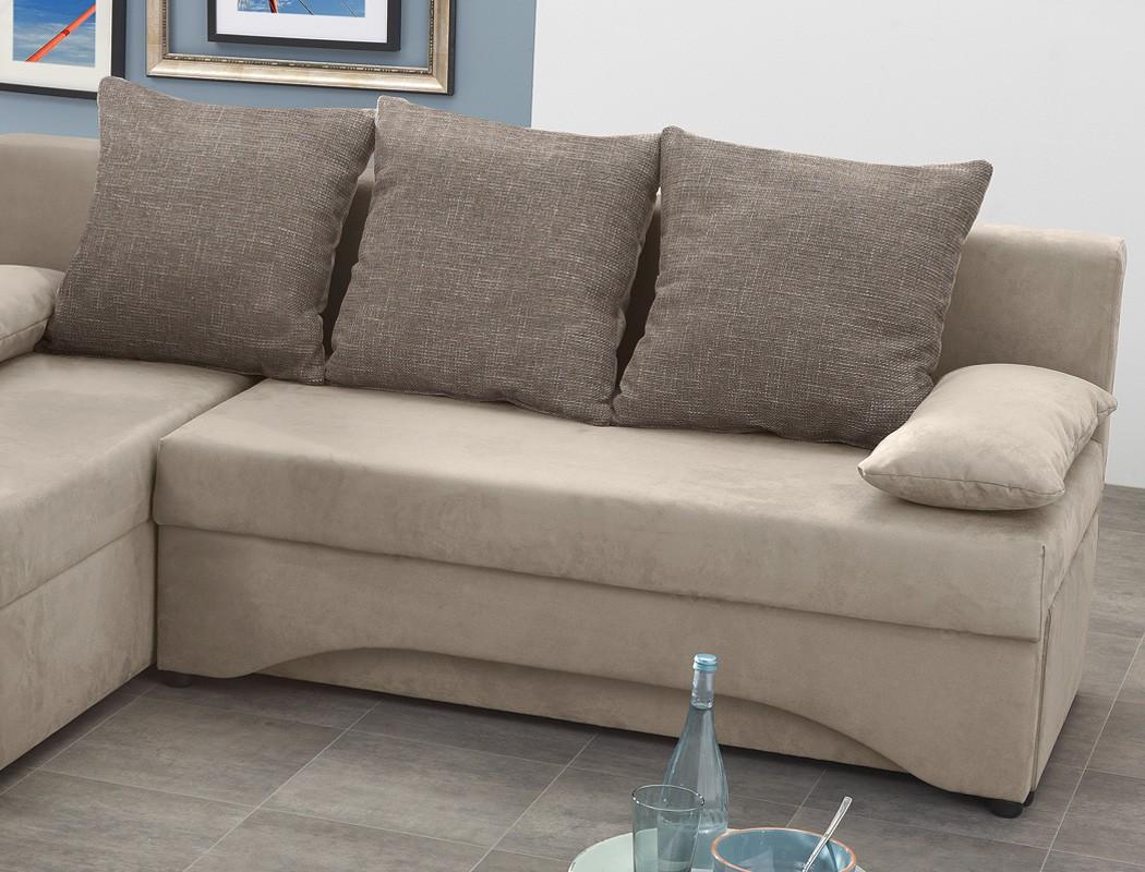 Ecksofa pollux 191x142cm schlamm grau braun schlafsofa for Ecksofa couch