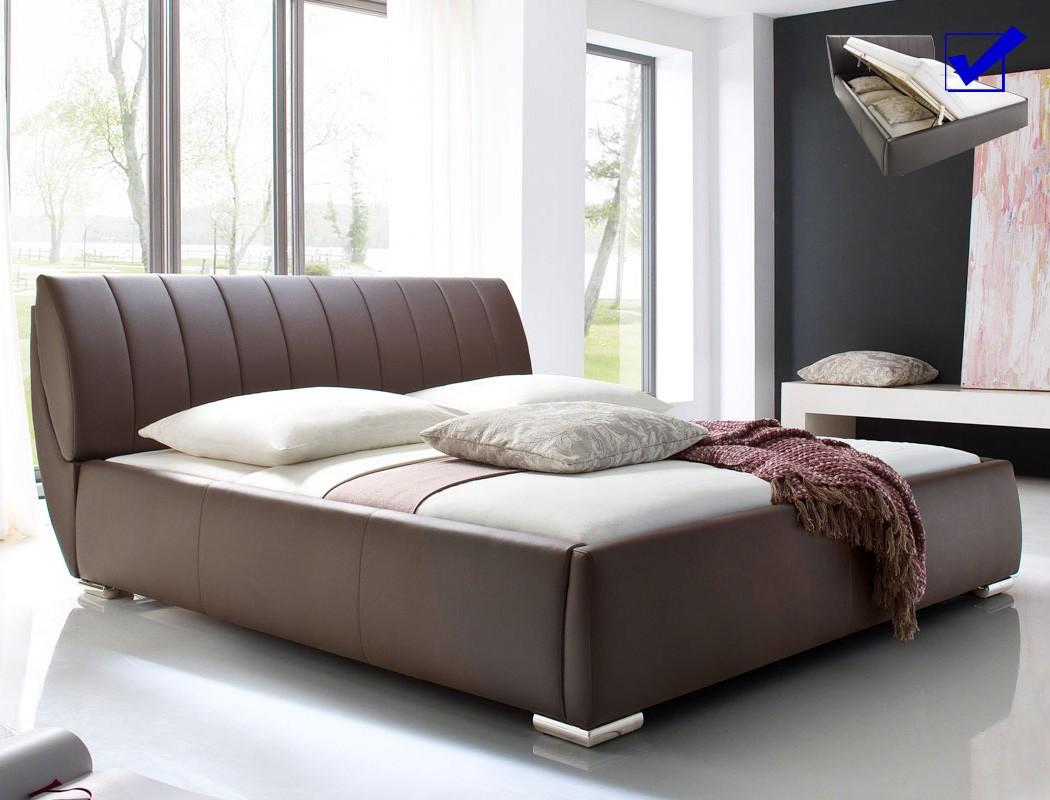 Marvelous Polsterbett Luanos 180x200 Braun Kunstleder Rost Klappbar Doppelbett Nice Design