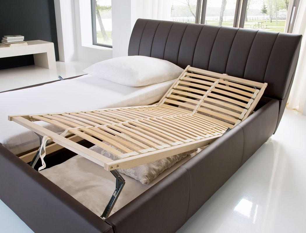 polsterbett luanos 180x200 braun kunstleder rost klappbar doppelbett wohnbereiche schlafzimmer. Black Bedroom Furniture Sets. Home Design Ideas