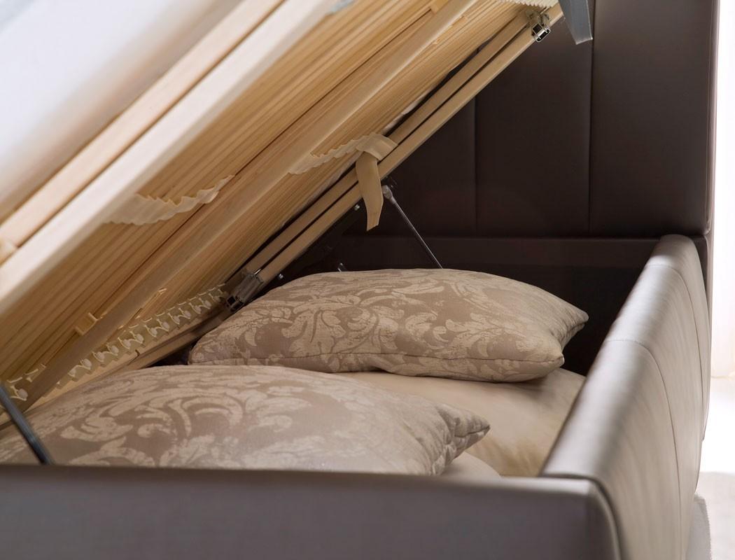 polsterbett 180x200 bett wei mit bettkasten und. Black Bedroom Furniture Sets. Home Design Ideas