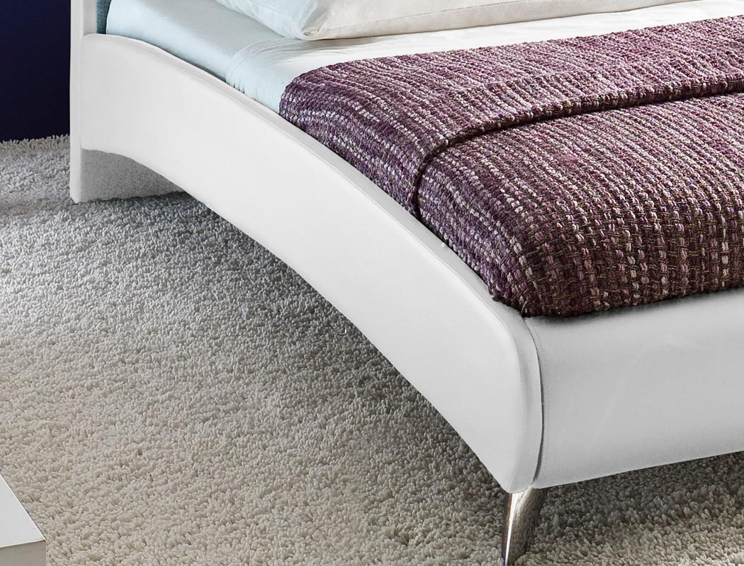 polsterbett bett 180x200 cm wei hellgrau doppelbett kunstleder stoff relana 4251052555680 ebay. Black Bedroom Furniture Sets. Home Design Ideas