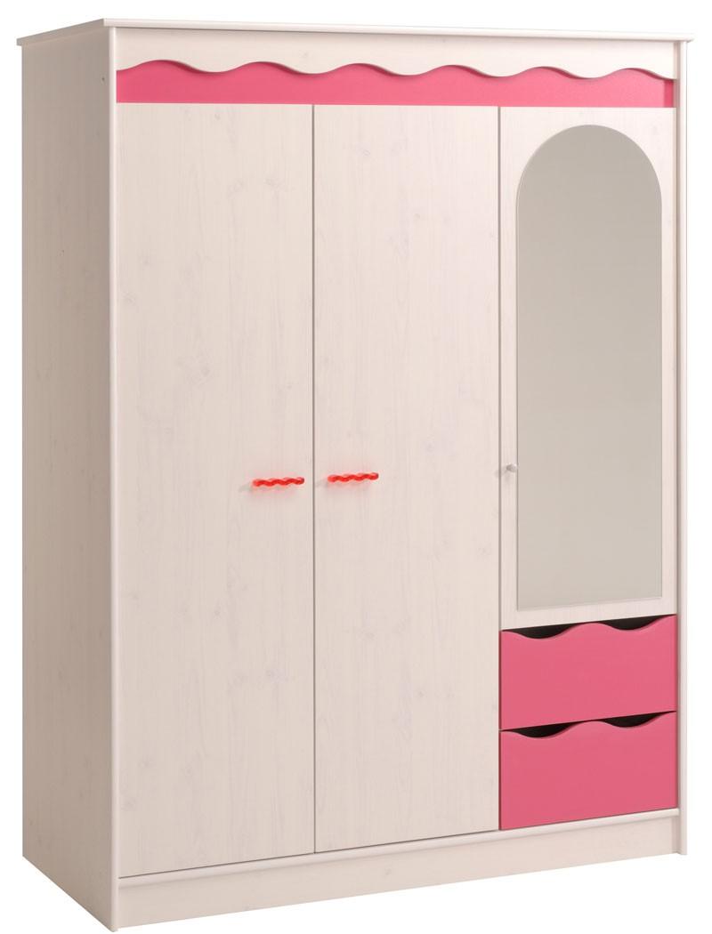 Kinderzimmer Mädchen weiß pink Kleiderschrank Bett Nachttisch Kommode Lilan 1  eBay