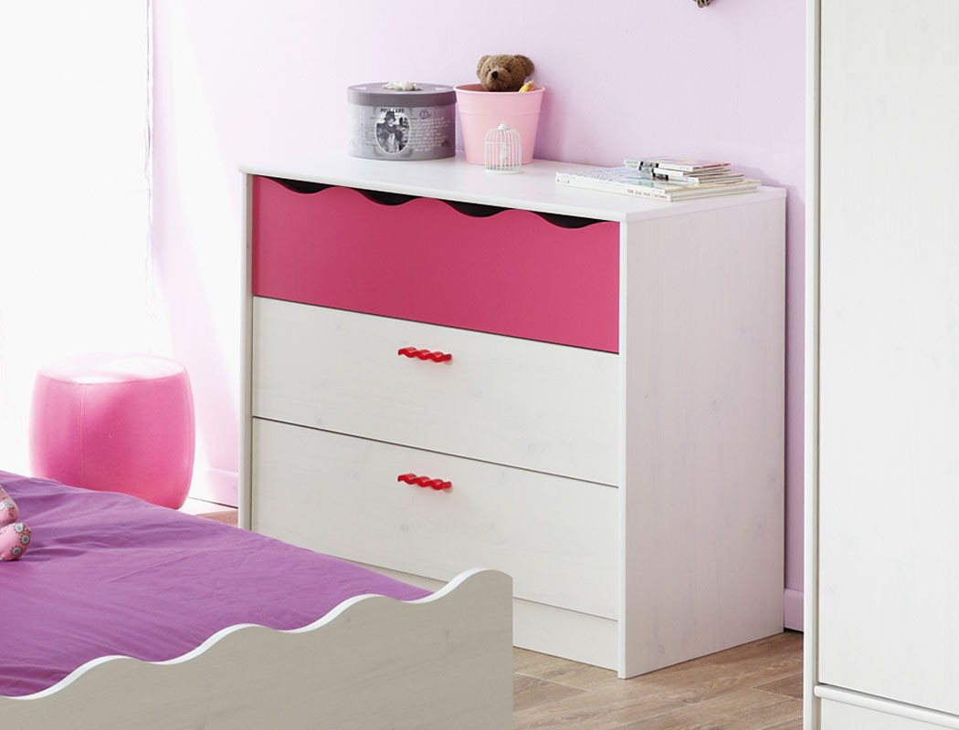 kinderzimmer m dchen wei pink kinderbett nachttisch kommode regal bett lilan 2 ebay. Black Bedroom Furniture Sets. Home Design Ideas