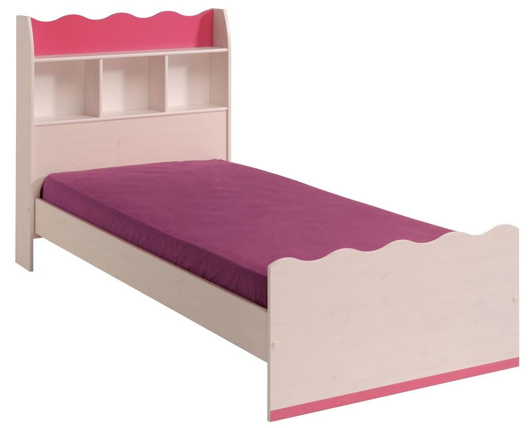 Kinderzimmer lilan 2 weiß pink kinderbett nachttisch kommode ...