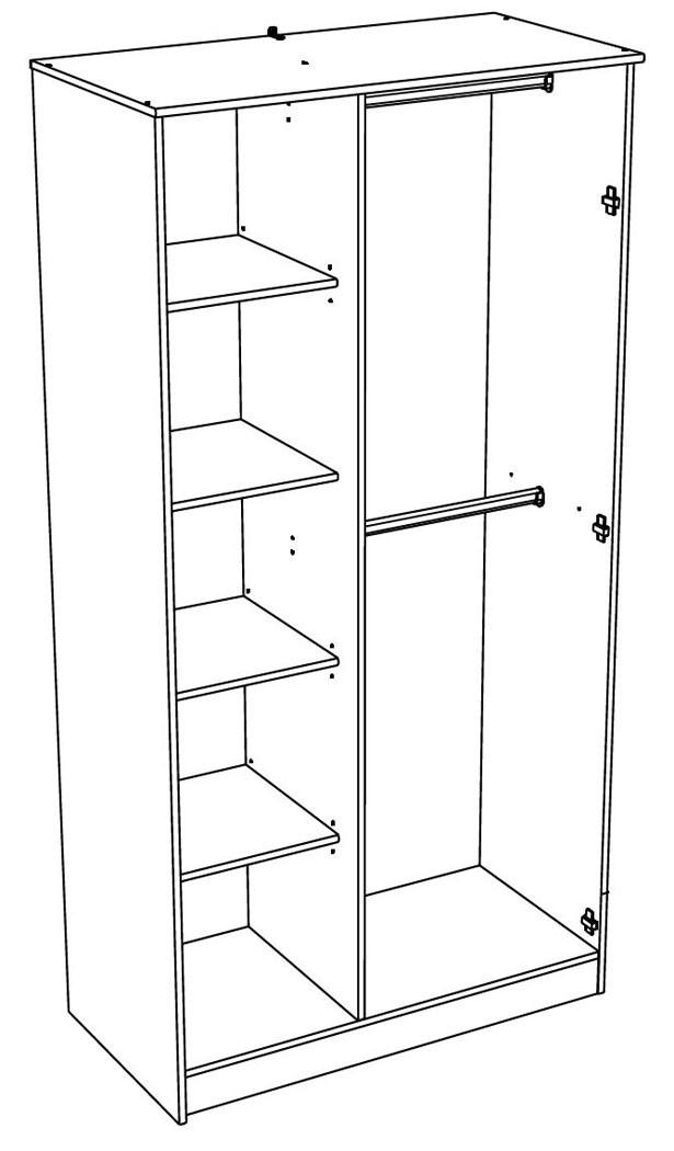schrank regal kombination dunkelgrau rosa kleiderschrank kinderzimmer tadeo 2 ebay. Black Bedroom Furniture Sets. Home Design Ideas