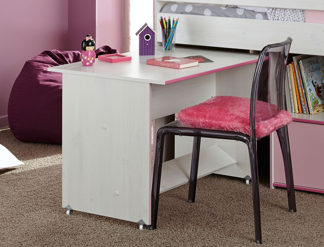 hochbett zola 90x200 wei pink rosa kinderbett etagenbett kinderzimmer wohnbereiche schlafzimmer. Black Bedroom Furniture Sets. Home Design Ideas